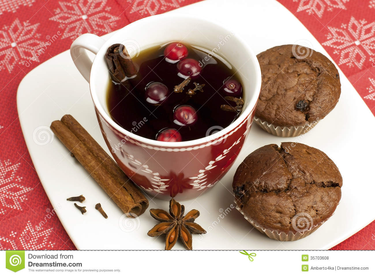 Chocolate Cupcakes With Hot Drink Royalty Free Stock Photos - Image ...