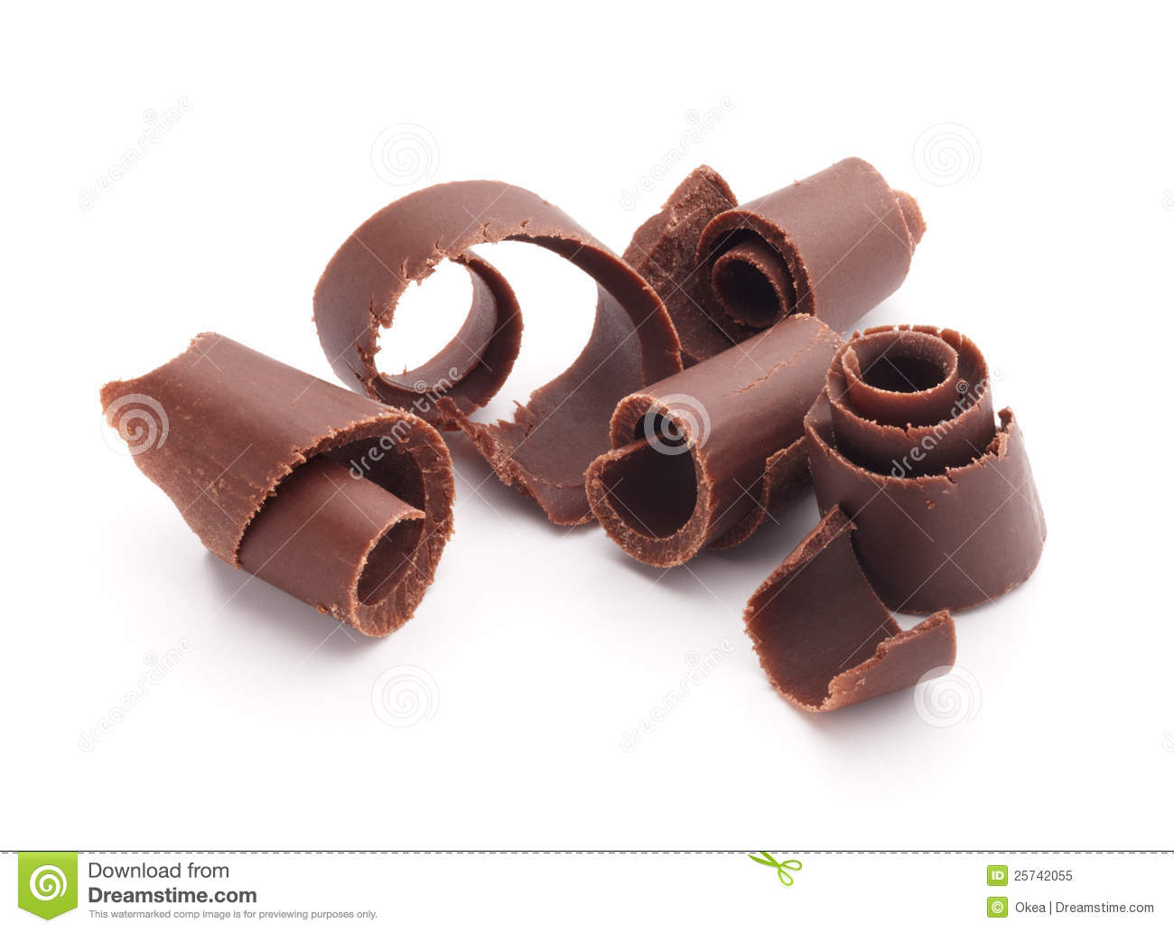 Chocolate Curls Royalty Free Stock Photo - Image: 25742055