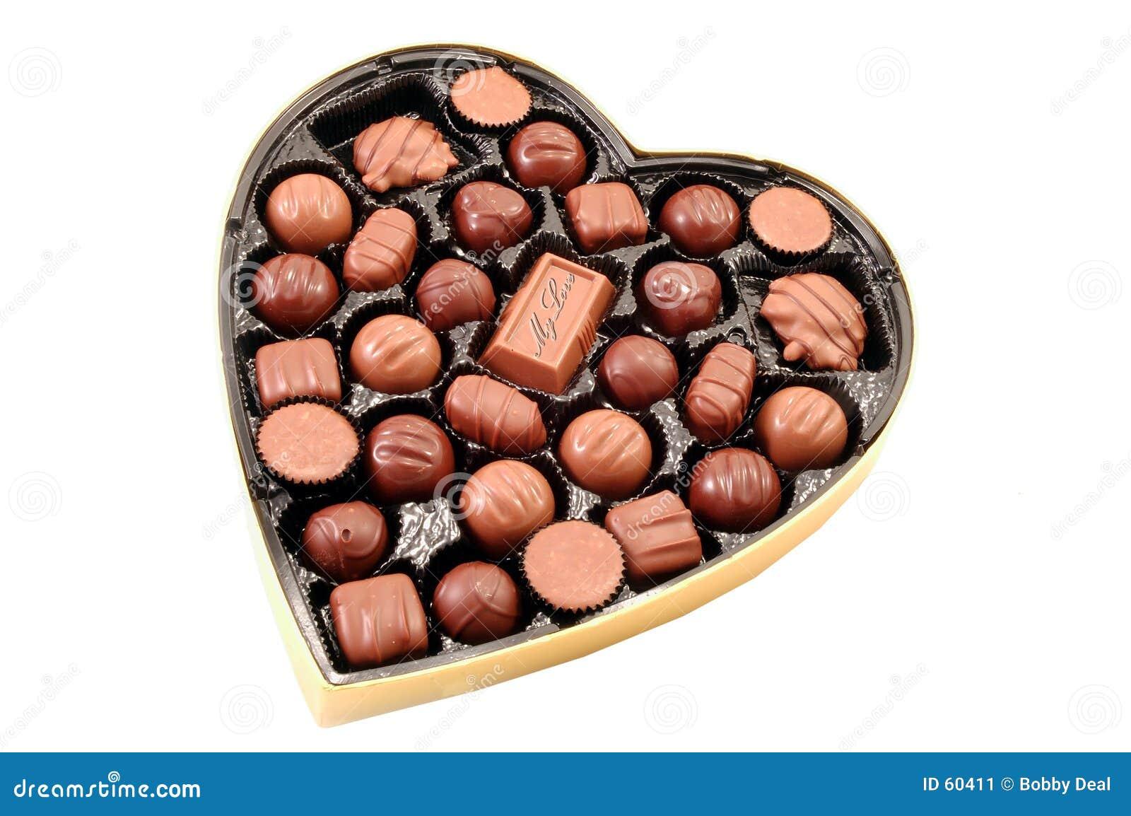 Chocolate de la tarjeta del día de San Valentín