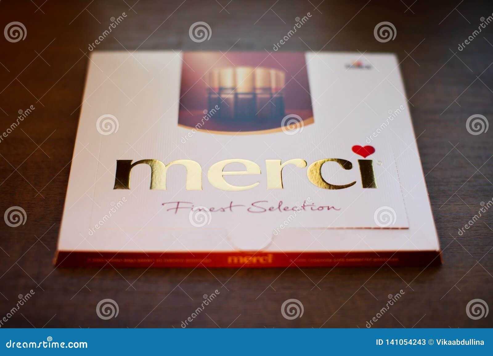 Chocolate de Merci - marca de caramelo de chocolate manufacturada por la compañía alemana August Storck, vendido en más de 70 paí