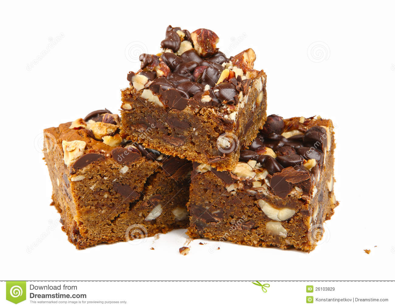 Chocolate Dessert With Walnuts Royalty Free Stock Images - Image ...