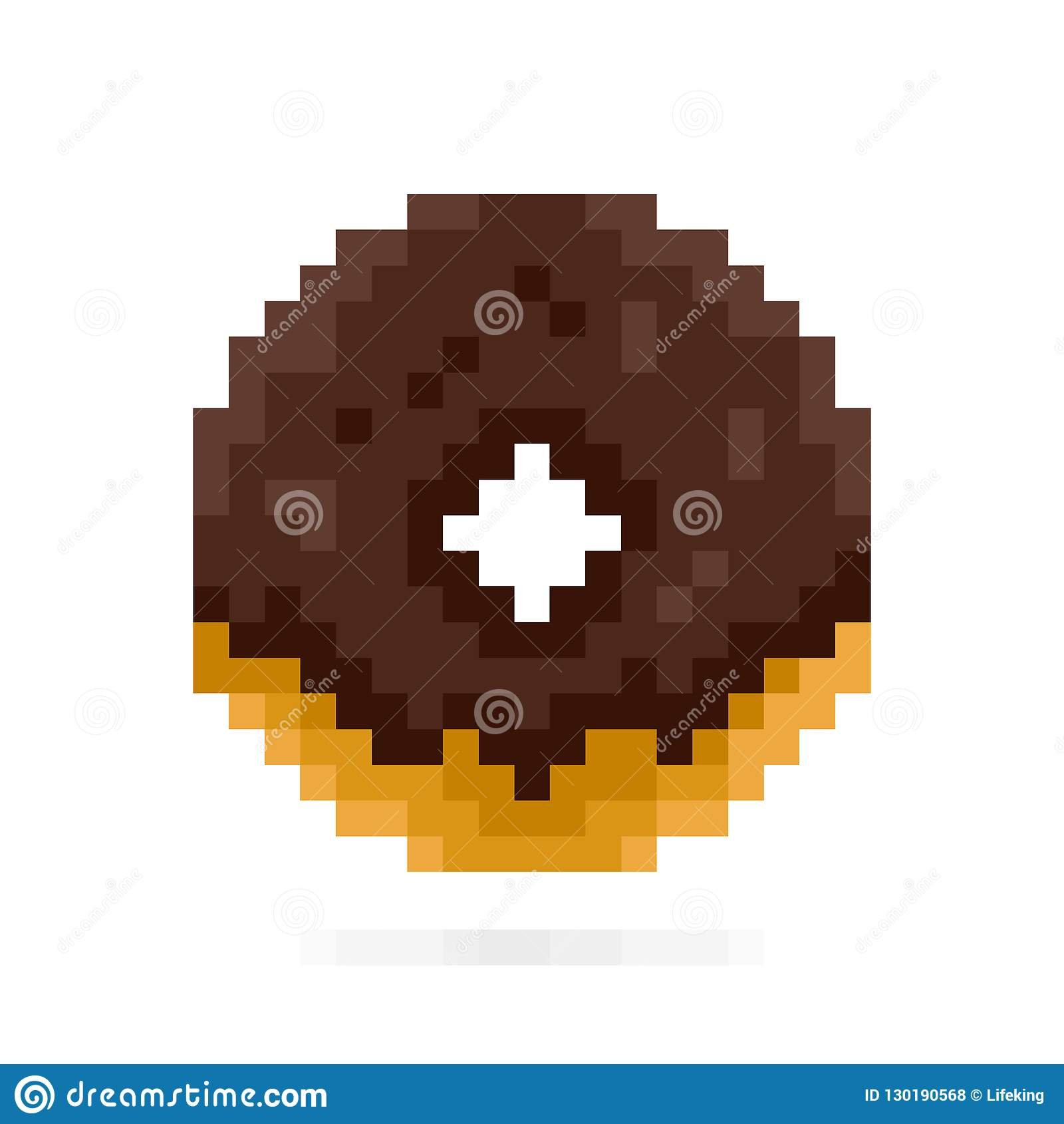 Colored Donuts Symbol Or Icon In Pixel Art Design