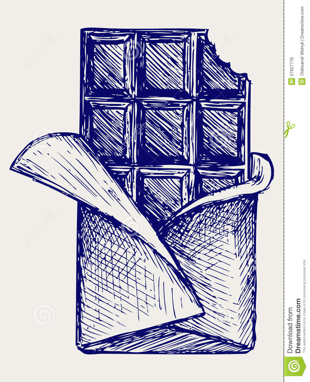 Chocolate. Doodle Style Stock Vector. Illustration Of Design - 27927716