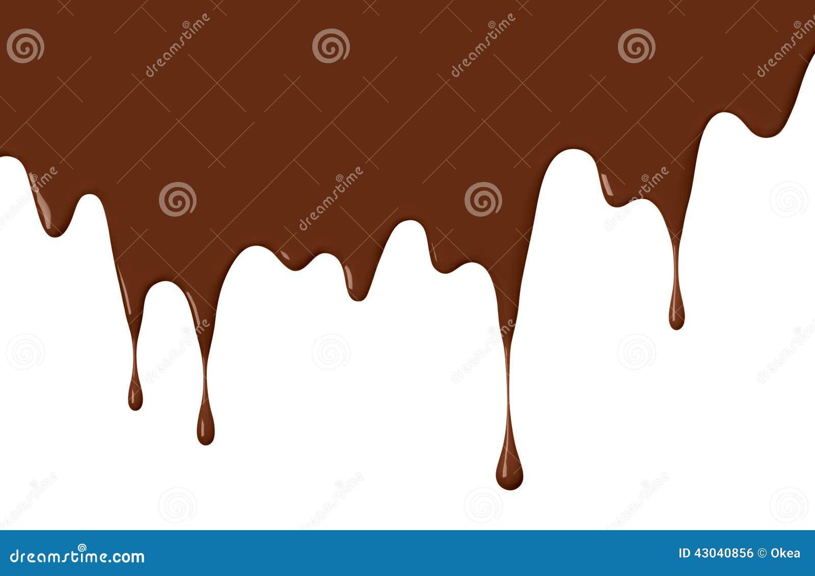 Chocolate Drips... Dripping Chocolate Background
