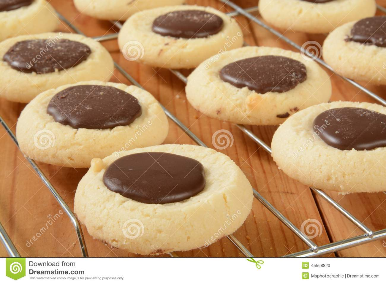 Chocolate Drop Cookies Stock Photo - Image: 45568820