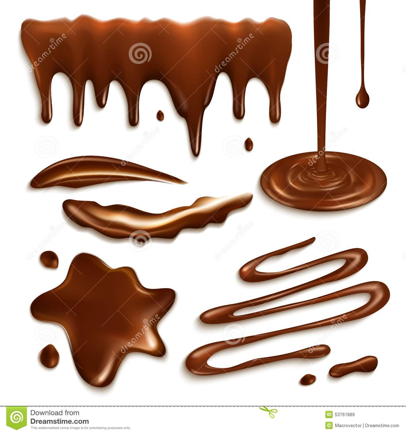 Chocolate Drops Set Stock Vector - Image: 53761889