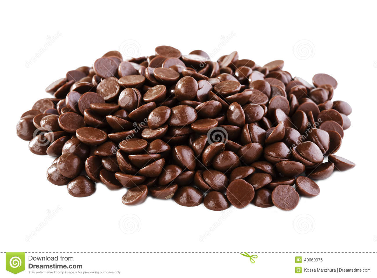 Chocolate Drops Stock Photo - Image: 40669976