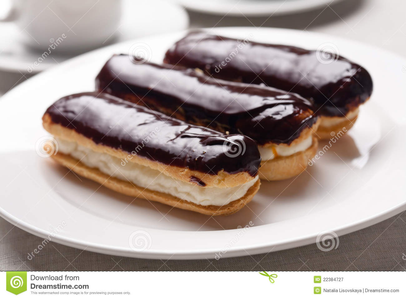 Chocolate Eclairs Royalty Free Stock Photography - Image: 22384727