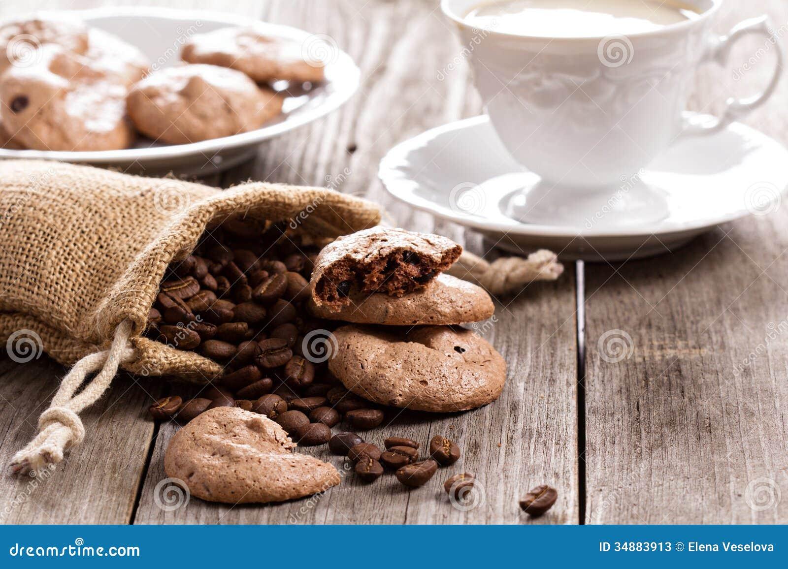 Chocolate Espresso Meringue Cookies Stock Photos - Image: 34883913