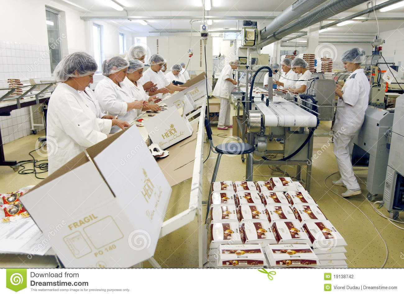 Chocolate Factory Employees Editorial Photography - Image ...