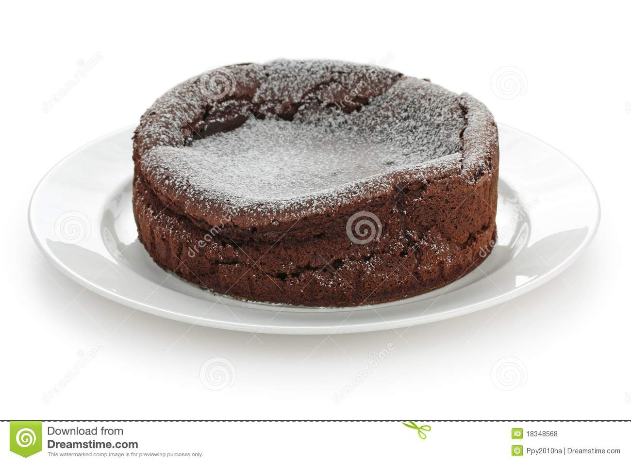 Chocolate Fallen Souffle Cake Royalty Free Stock Photos - Image ...