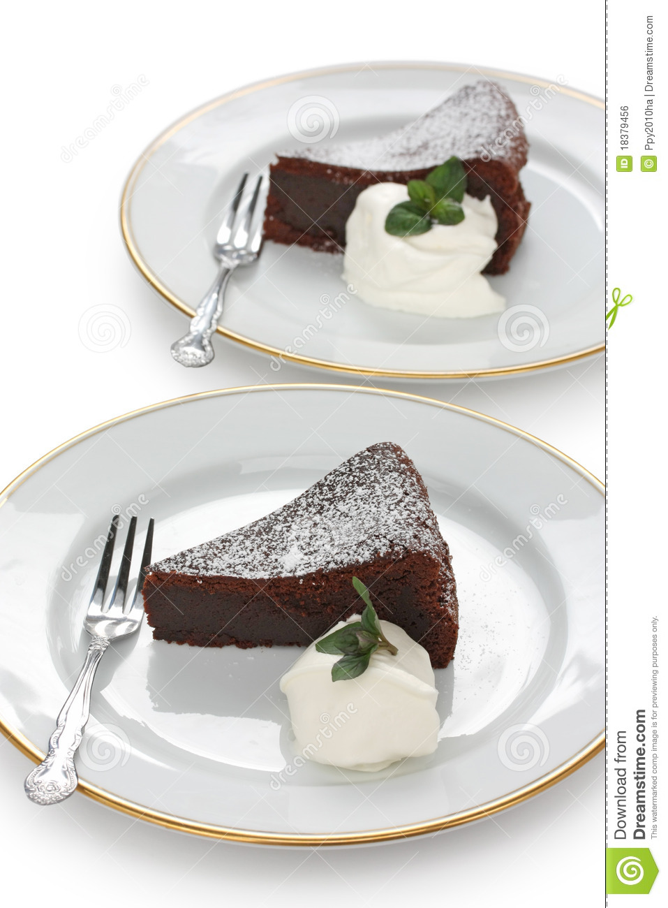 Chocolate Fallen Souffle Cake Royalty Free Stock Image - Image ...
