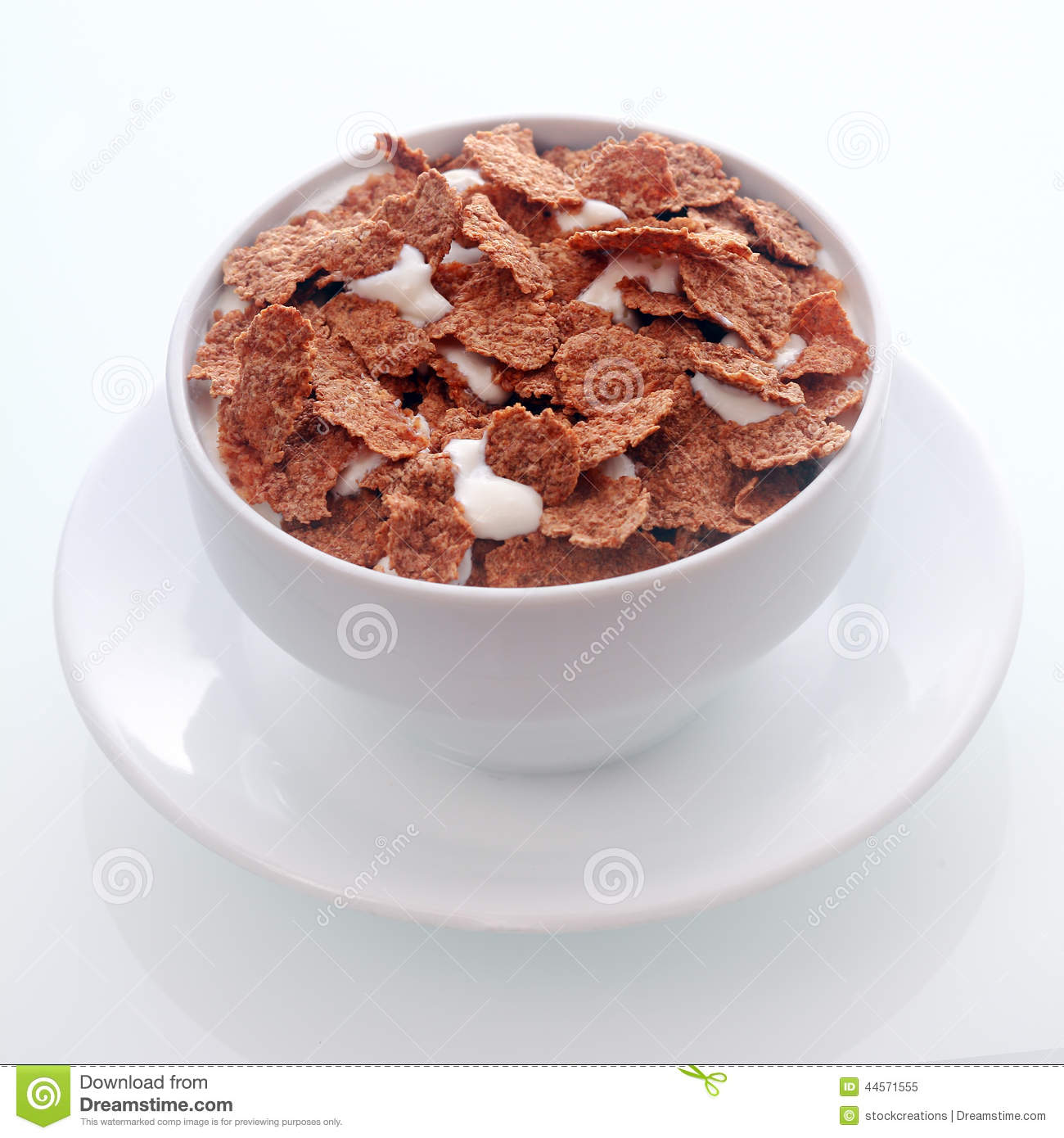 Chocolate Flavored Breakfast Cereal Stock Photo