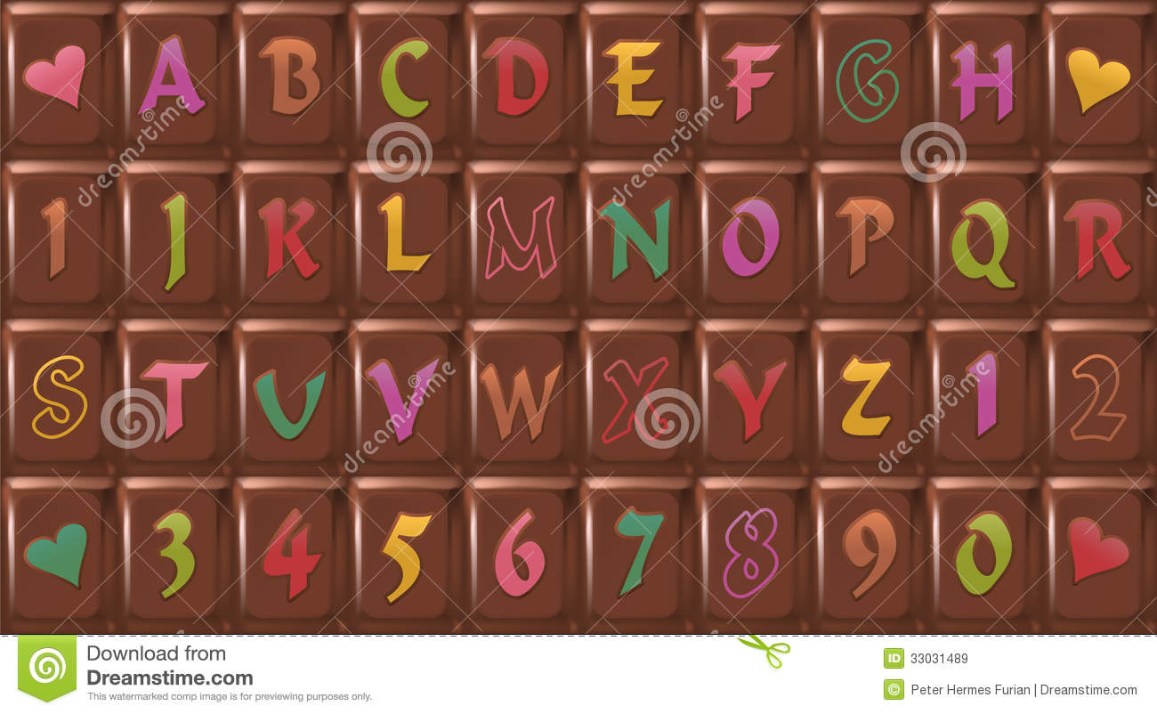 Chocolate Font Royalty Free Stock Images