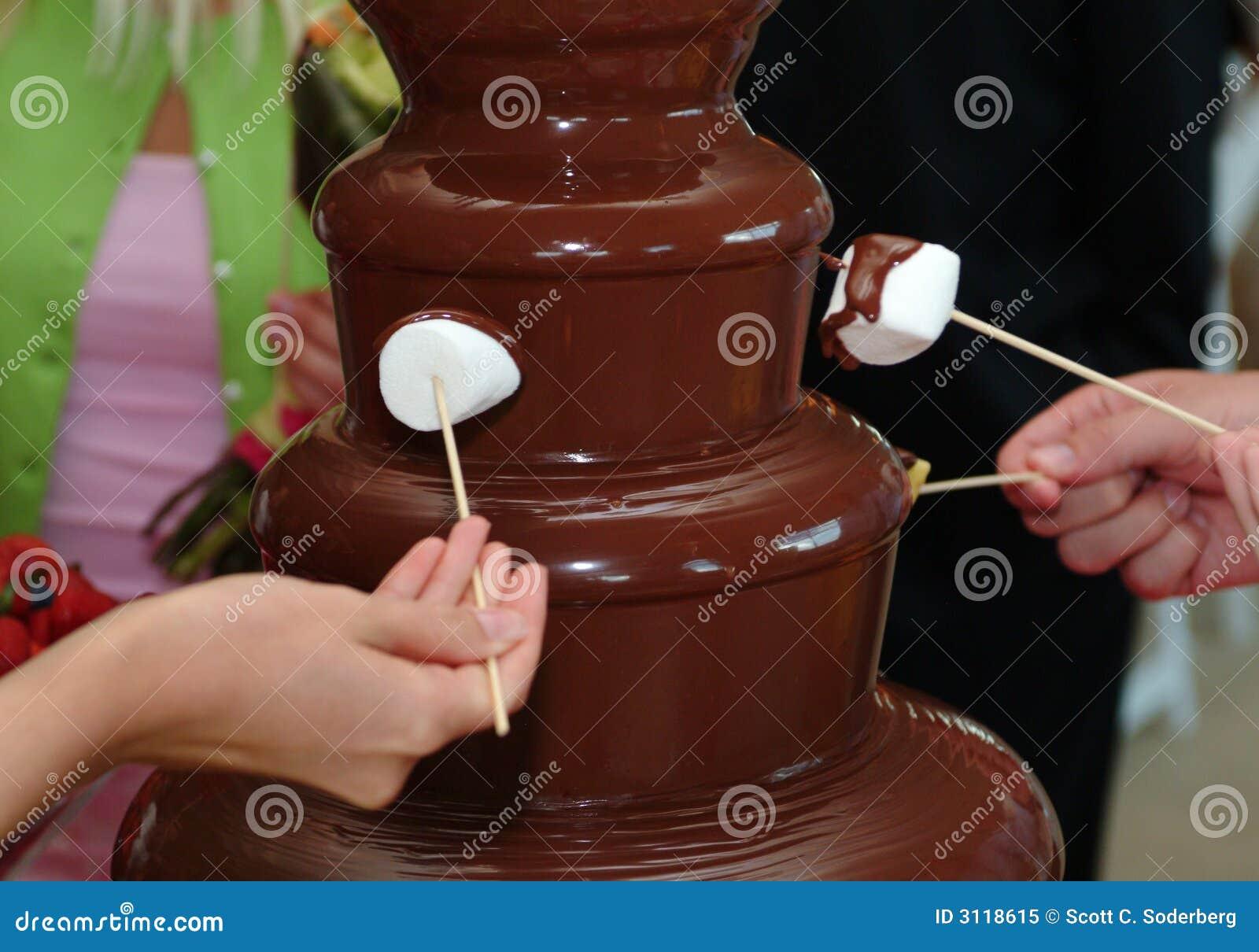 Chocolate Fondue Fountain Stock Image - Image: 5753111