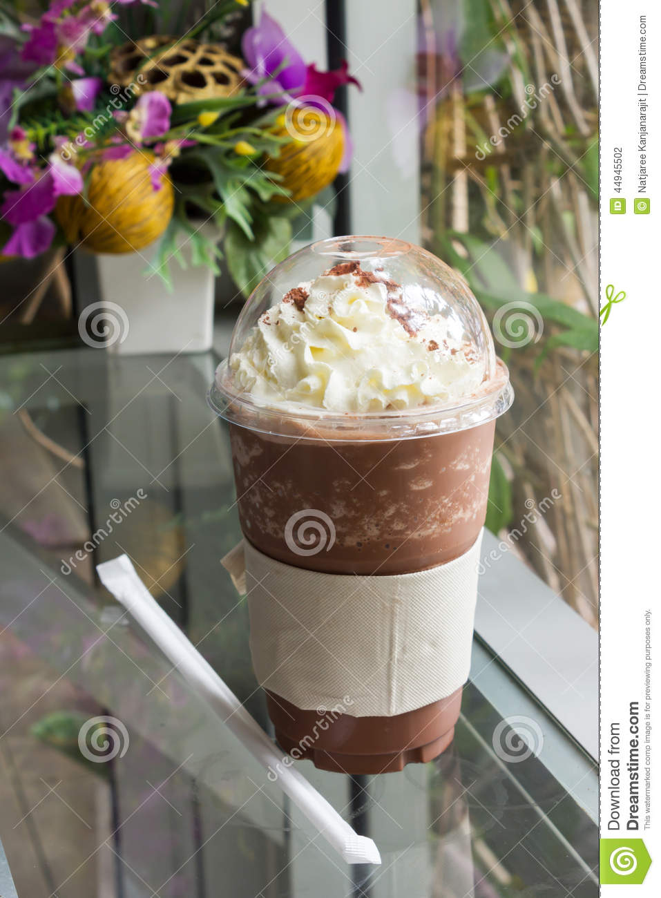 how to make a chocolate frappe with ice cream