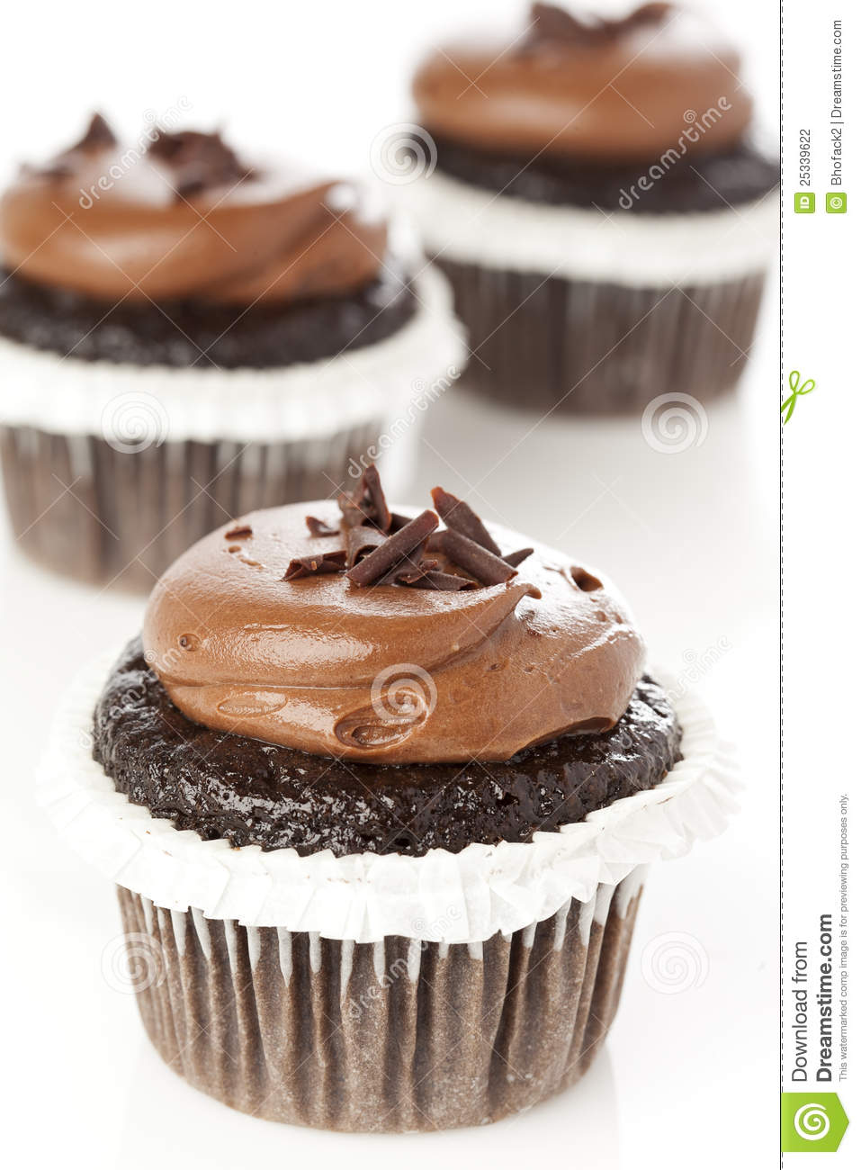 Chocolate Frosted Cupcake Stock Photography - Image: 25339622