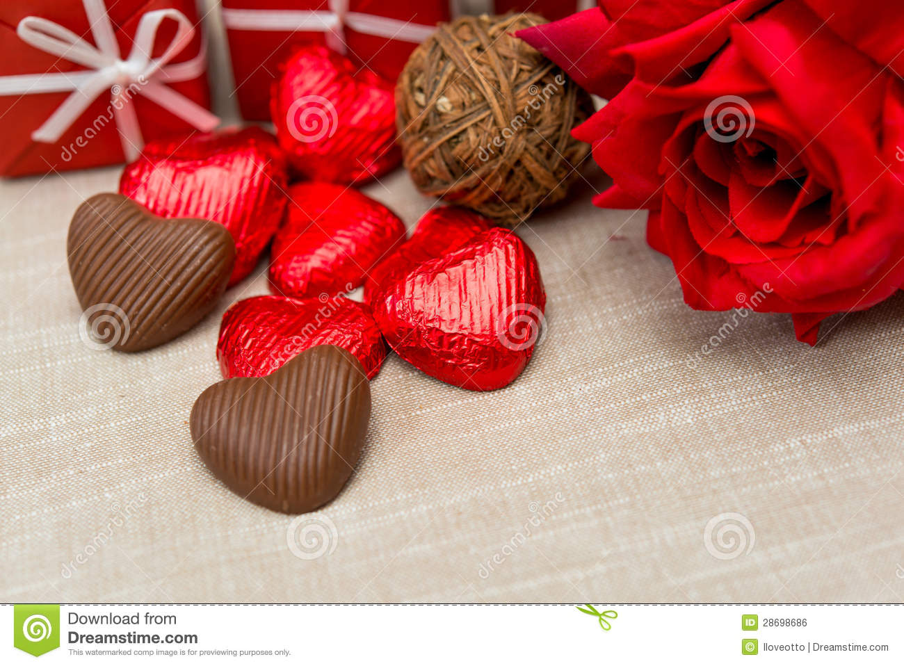 Chocolate Gift Box And Flowers Royalty Free Stock Image Image
