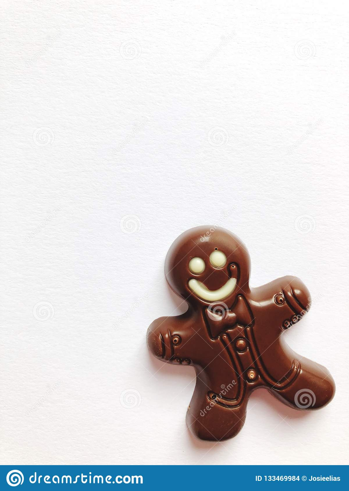 Chocolate Gingerbread Man Stock Photo Image Of Shapes 133469984