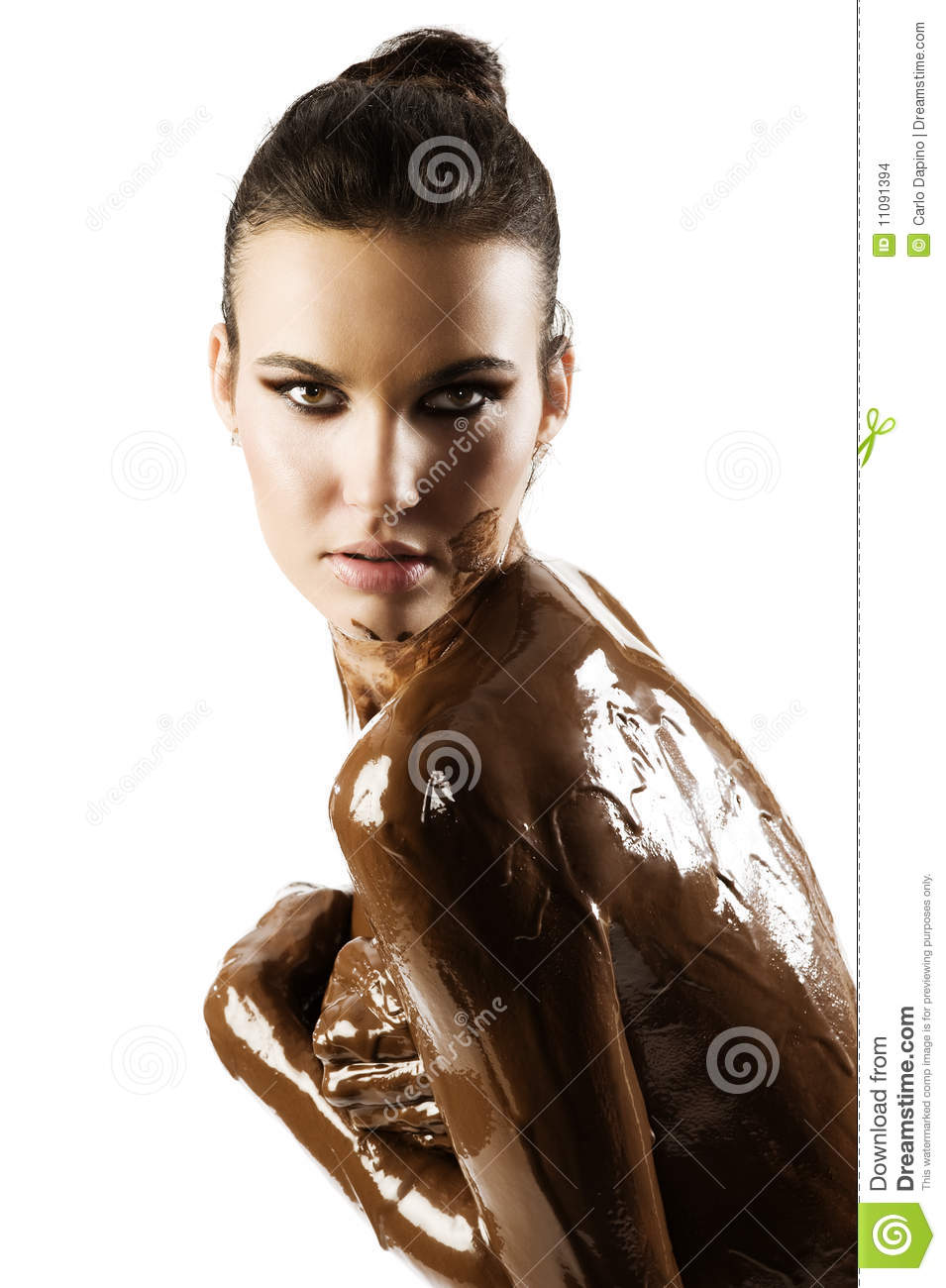 The Chocolate Girl Stock Images Image 11091394