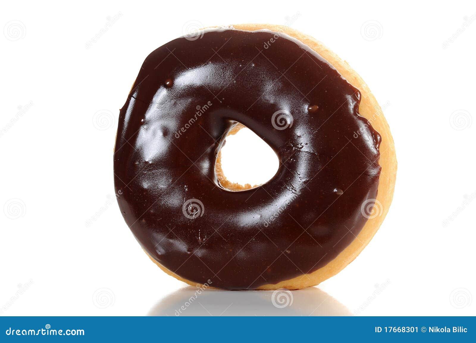 Chocolate Glazed Doughnut Stock Image - Image: 17668301