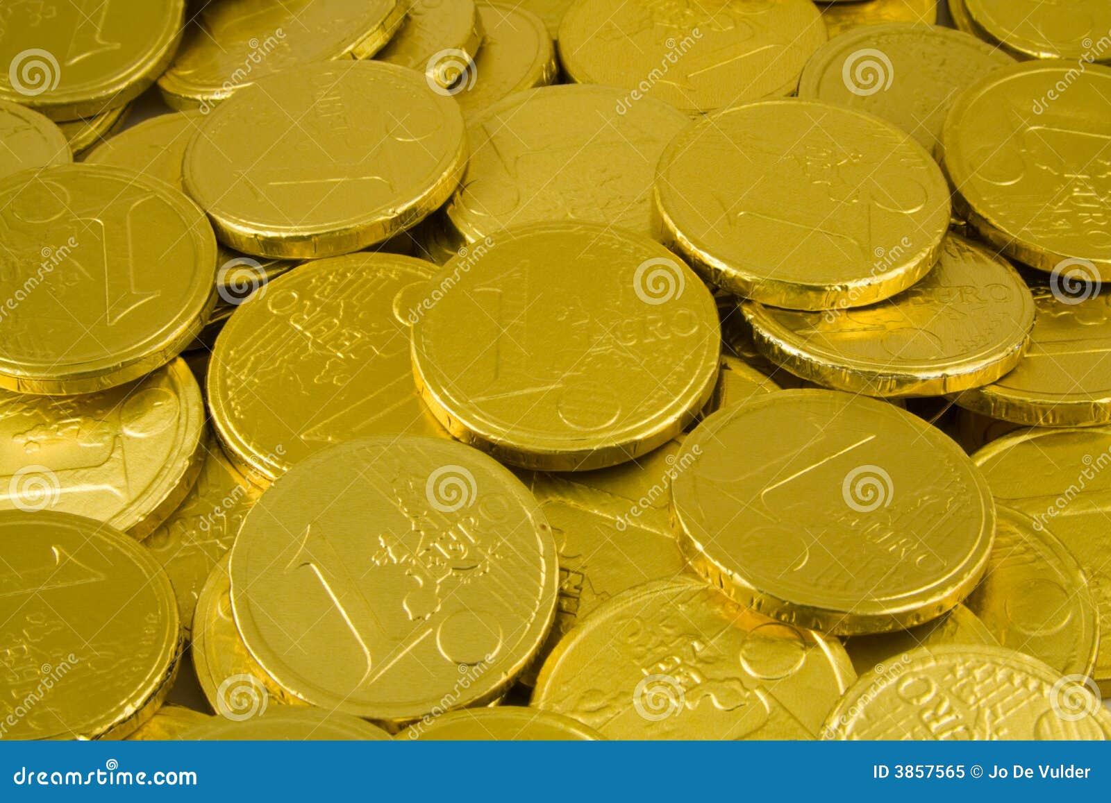 Chocolate Golden Euro Coins