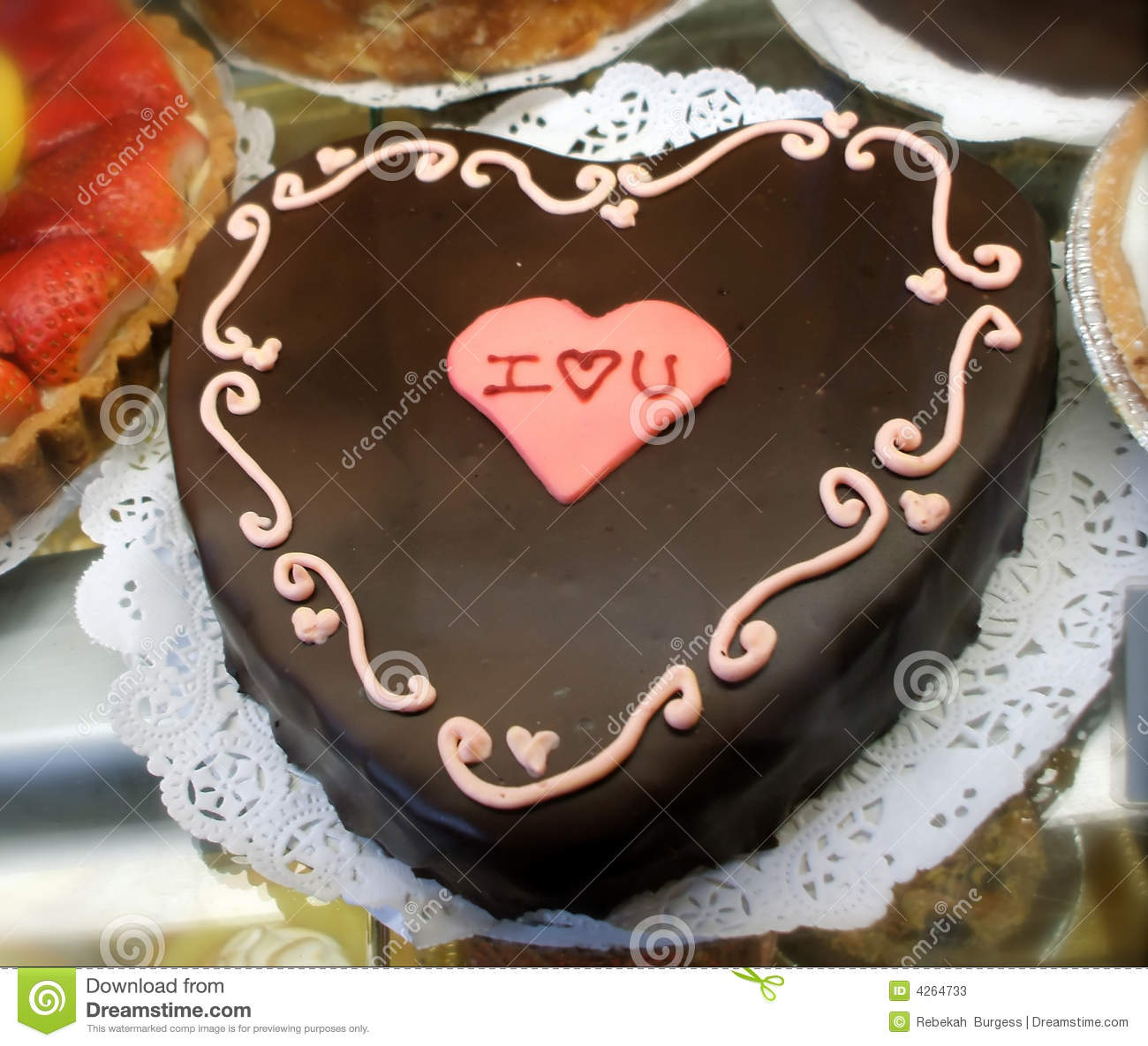 Chocolate Heart Cake stock image. Image of celebrate ...