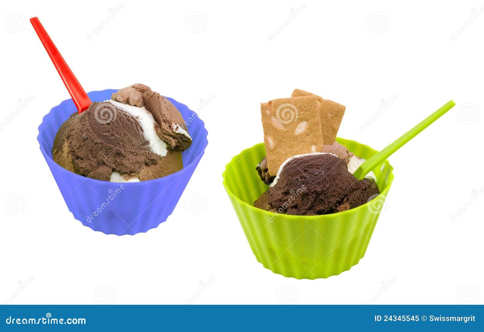 Chocolate ice cream in...