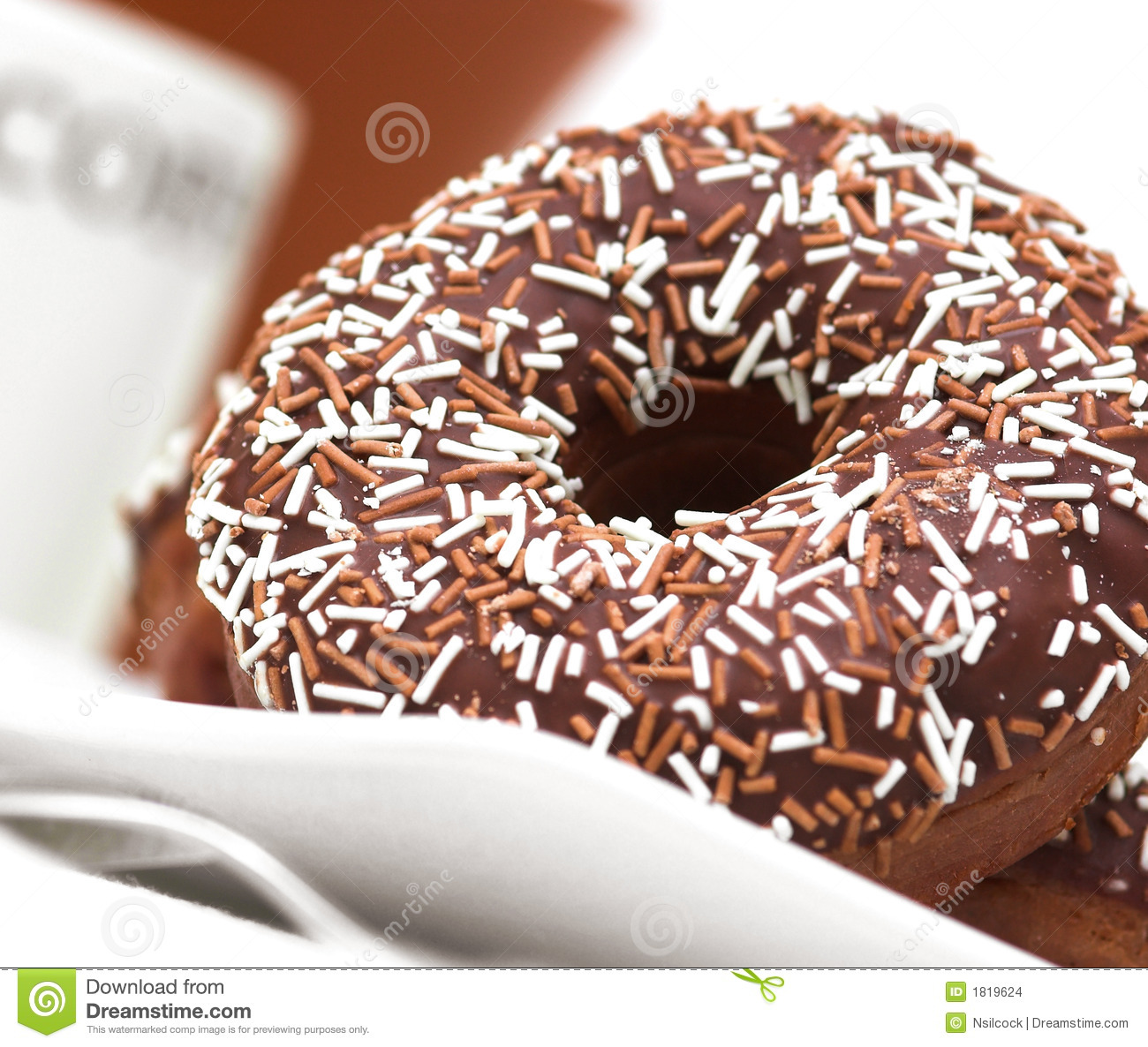 Chocolate Iced Ring Doughnuts Stock Images - Image: 1819624
