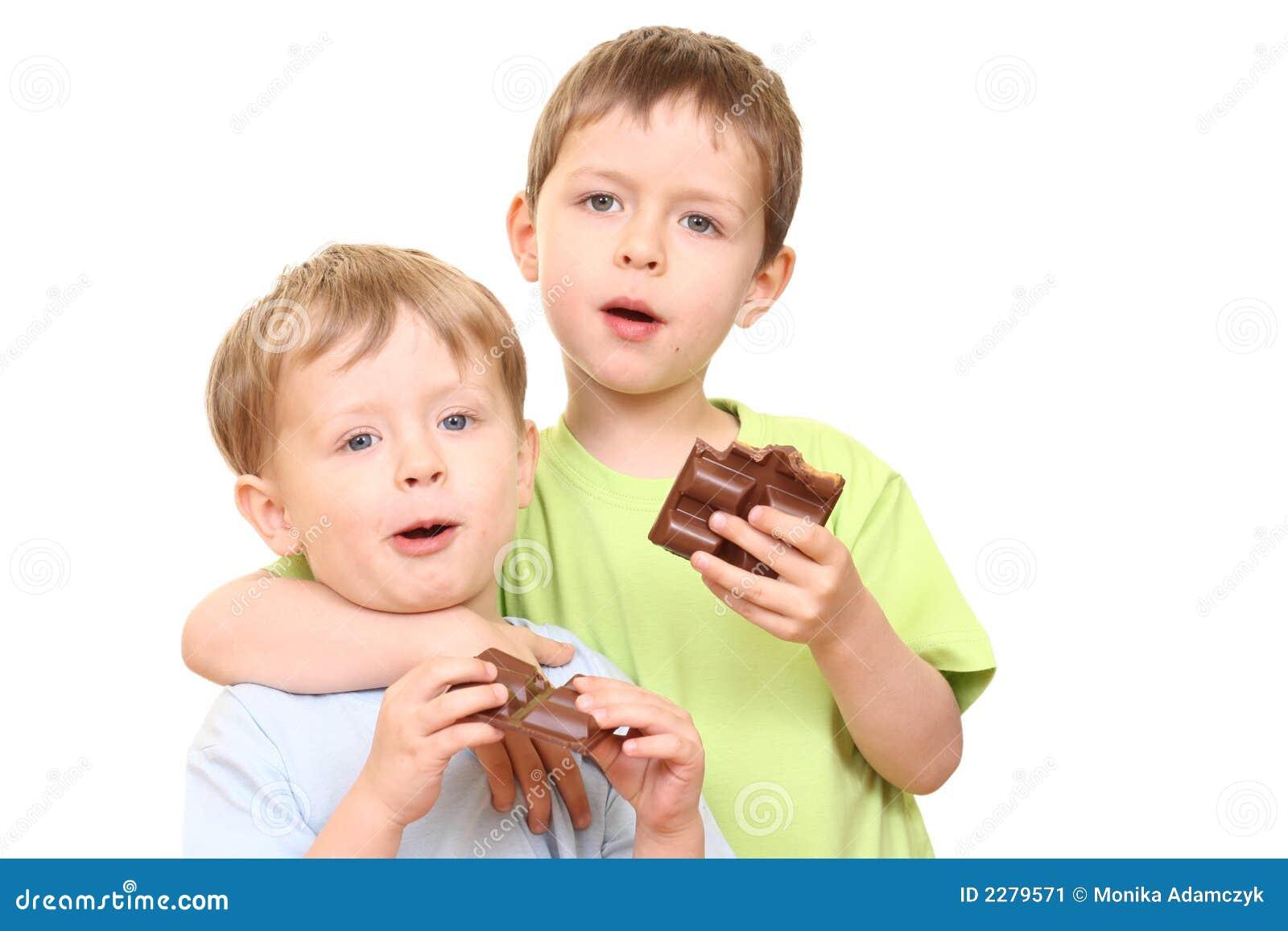 Chocolate Kids Stock Image Image Of Boys Chocolates 2279571
