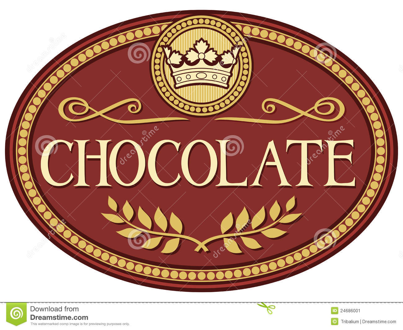 Woodburn (OR) United States  city pictures gallery : Chocolate Label Stock Image Image: 24686001