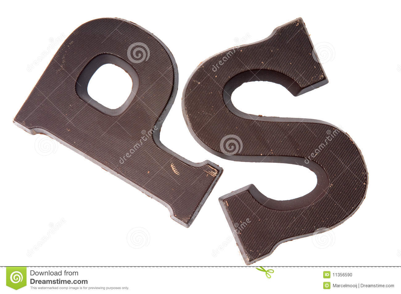 Chocolate Letter P And S Stock Photo. Image Of Dutch - 11356590