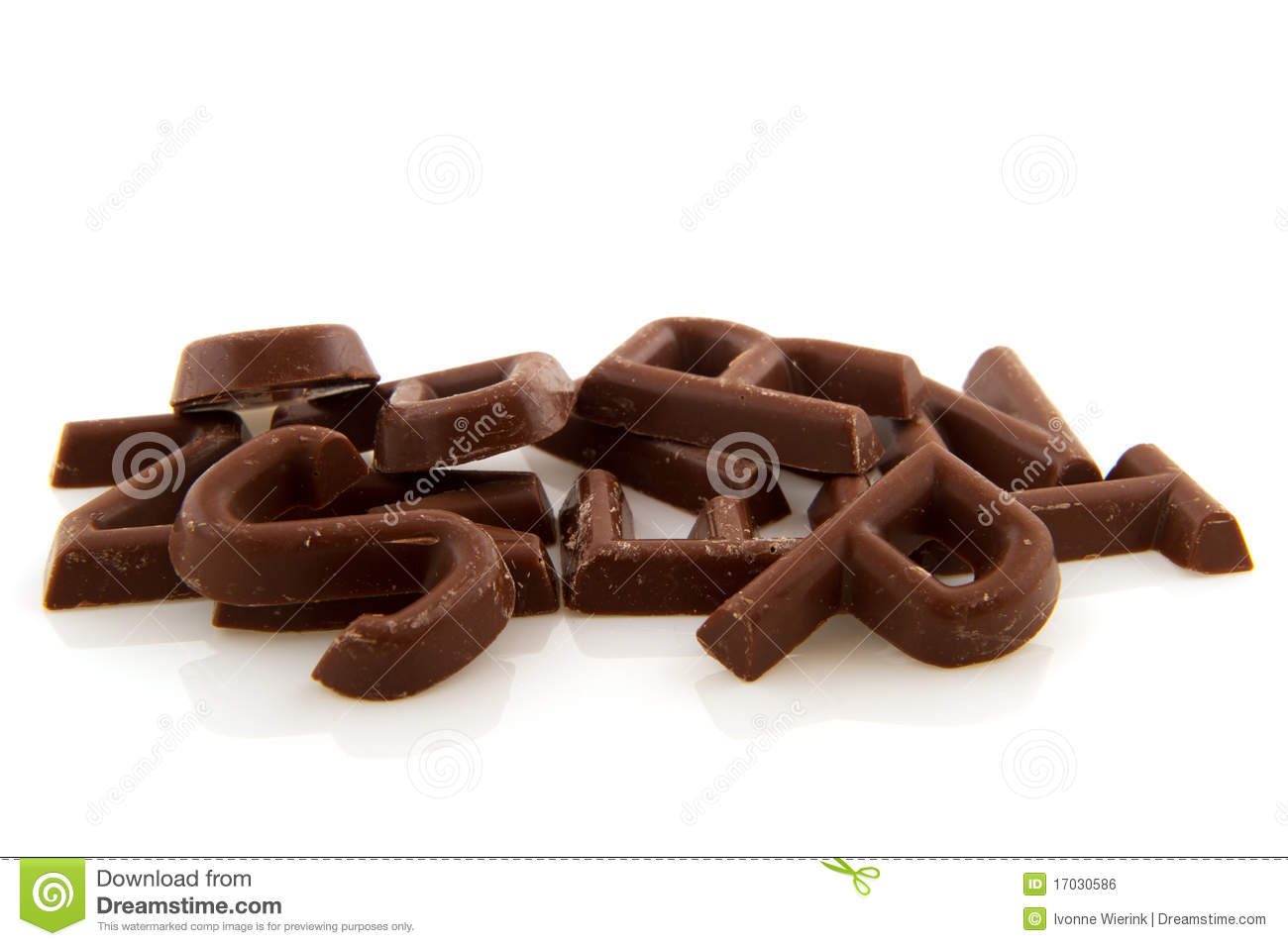 Chocolate Letters Royalty Free Stock Image