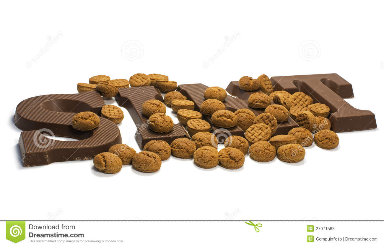 Chocolate Letters Royalty Free Stock Photos