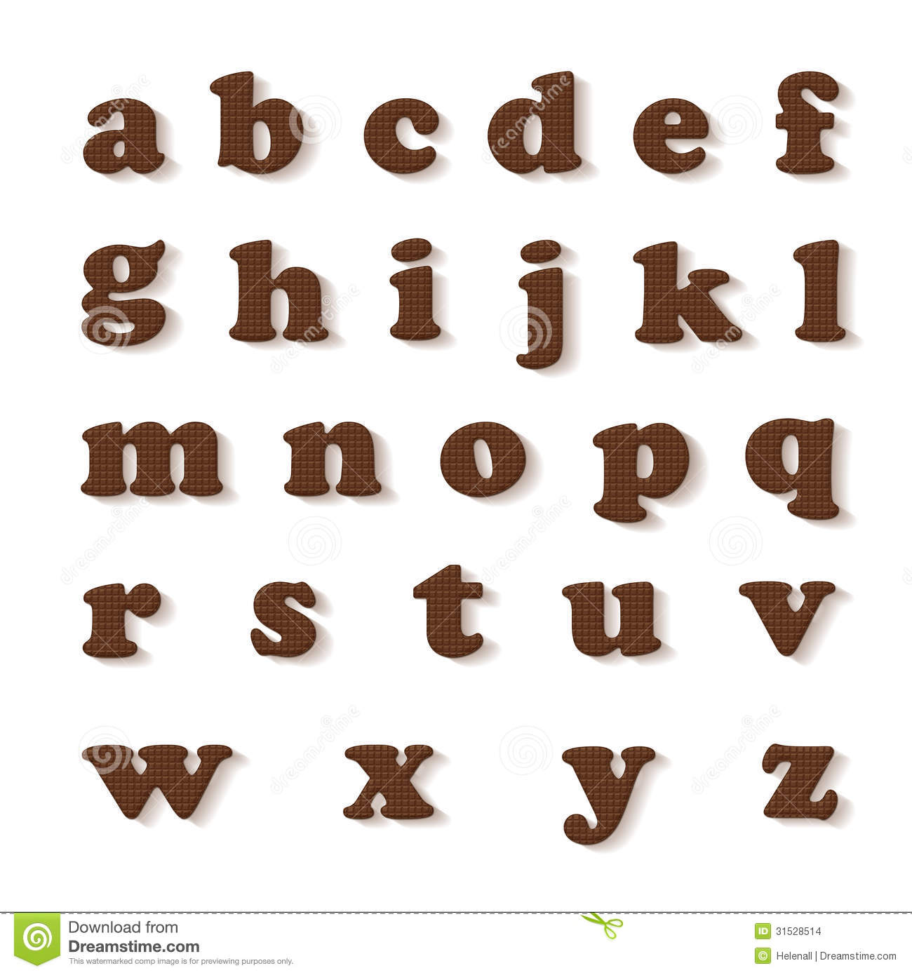 Chocolate Letters Stock Illustration Image Of Text