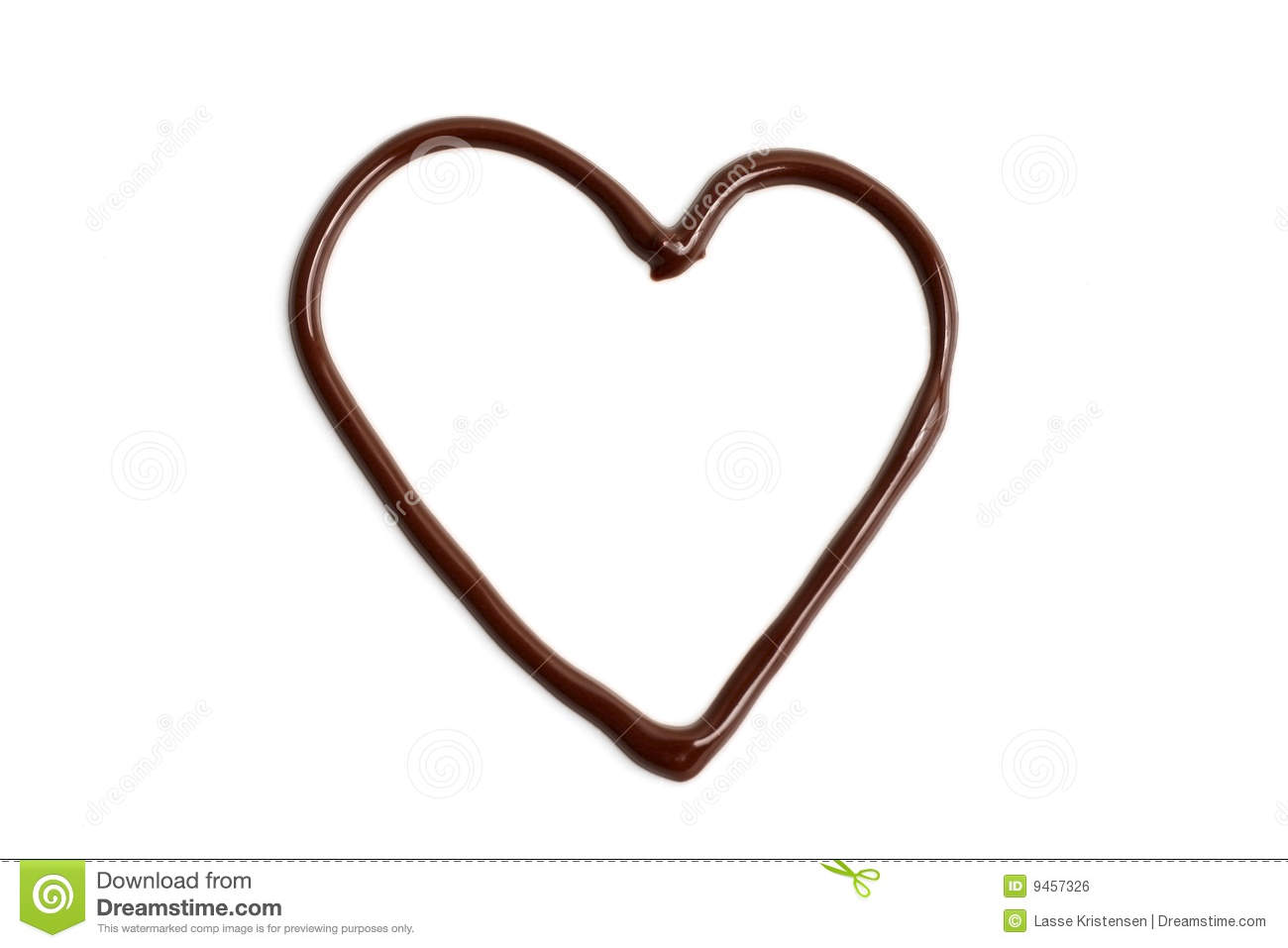 Chocolate Love Heart Royalty Free Stock Image - Image: 9457326