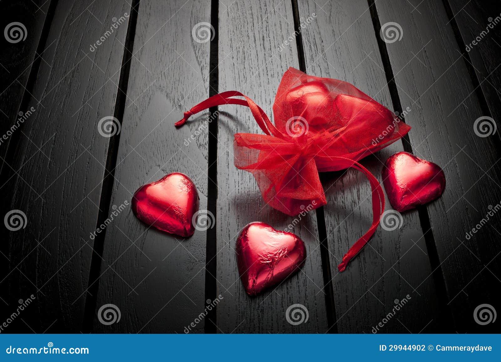 Valentine Love Chocolate Heart Background Stock ...