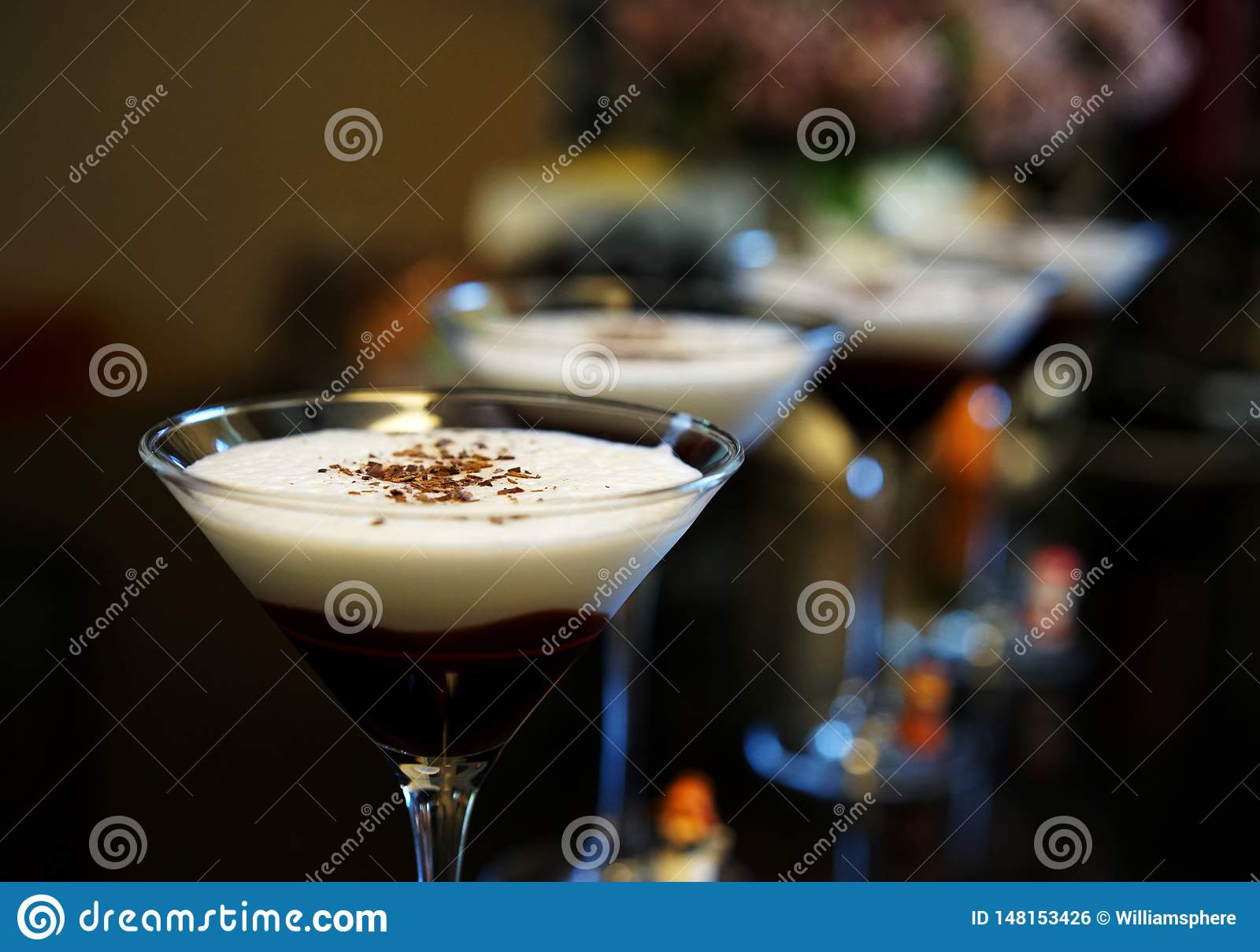 Chocolate martinis are the height of divine