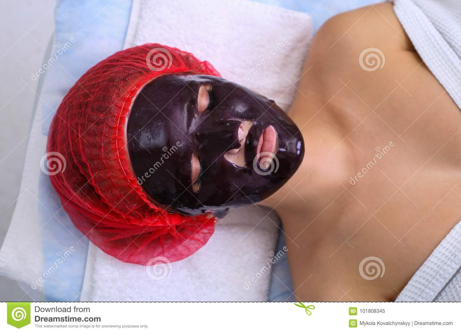 Homemade chocolate facial