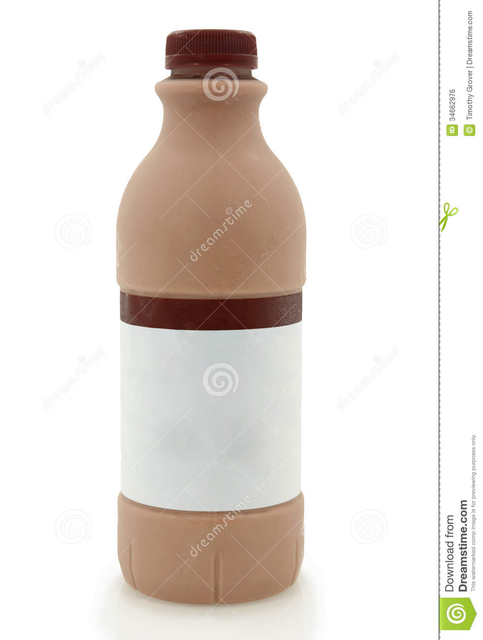 Chocolate Milk Bottle Isolated On White Royalty Free Stock Image ...