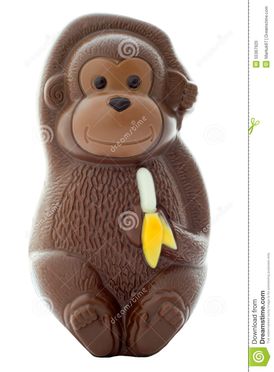 Chocolate Monkey Stock Photo - Image: 55367920