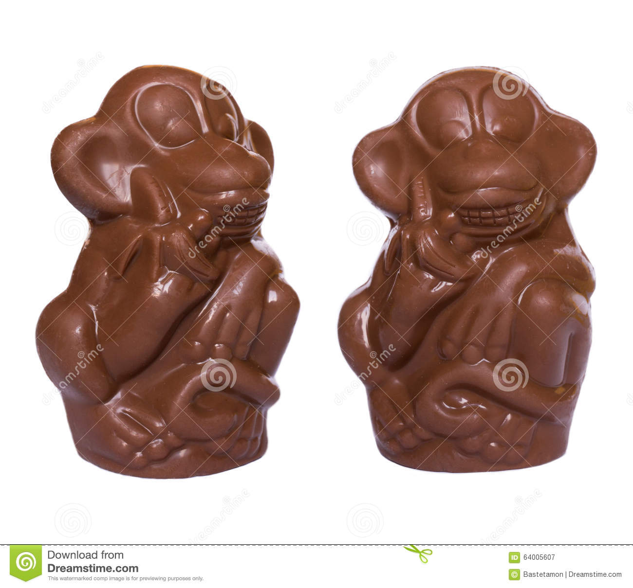 Chocolate Monkeys Figures Stock Illustration - Image: 64005607