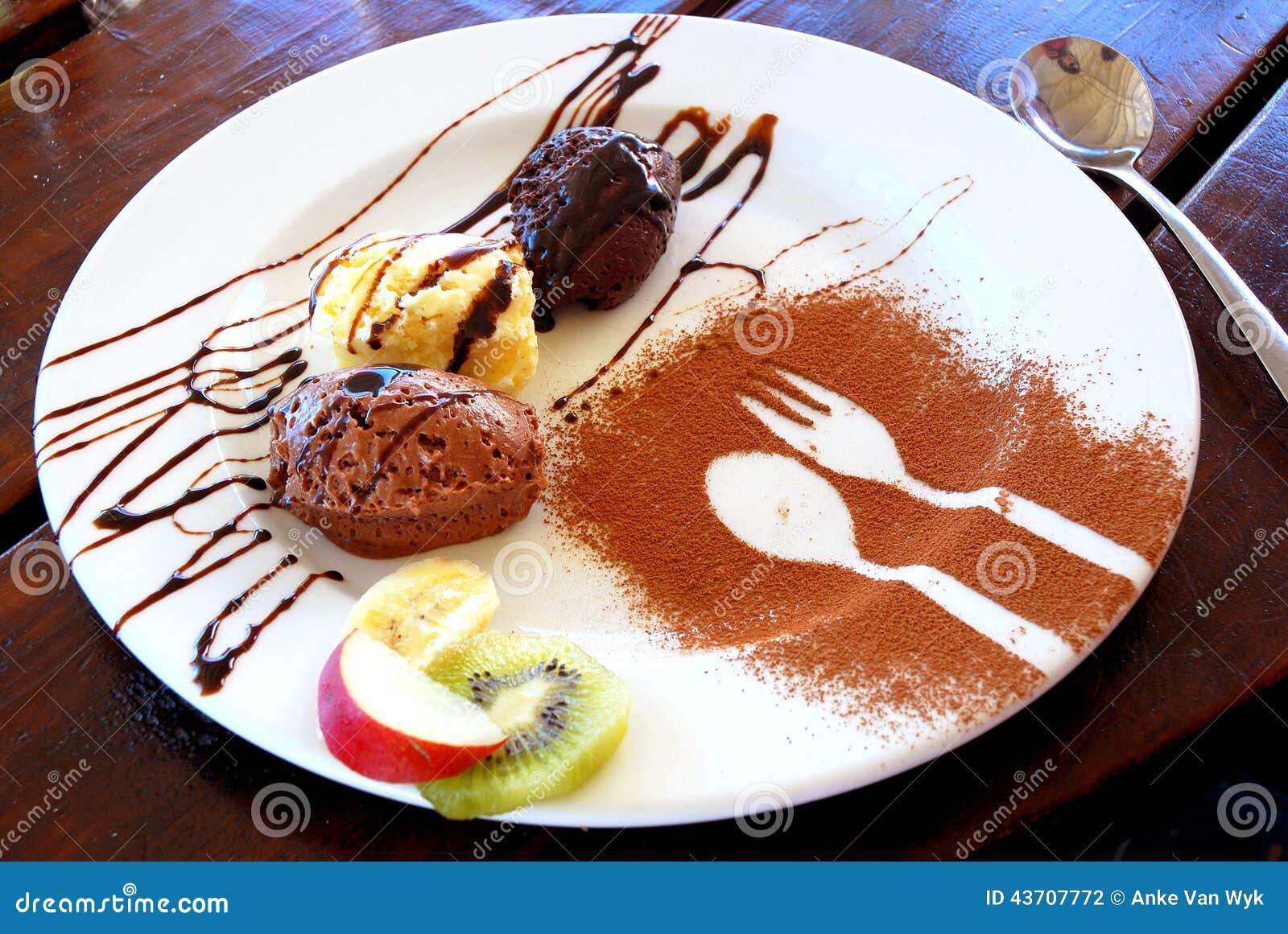 Chocolate Mousse Dessert Stock Photo Image 43707772