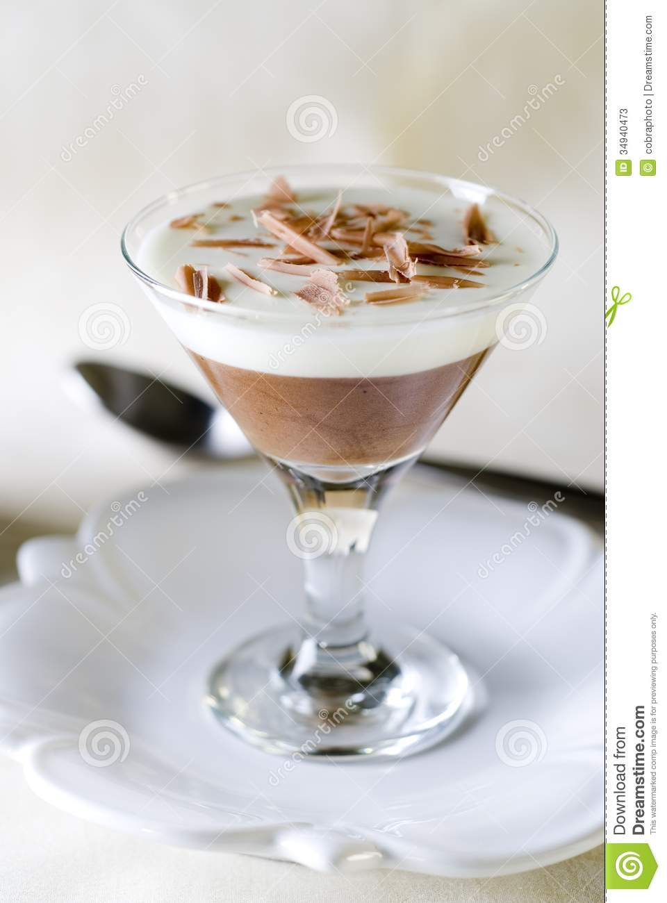 Gallery images and information: White And Dark Chocolate Mousse
