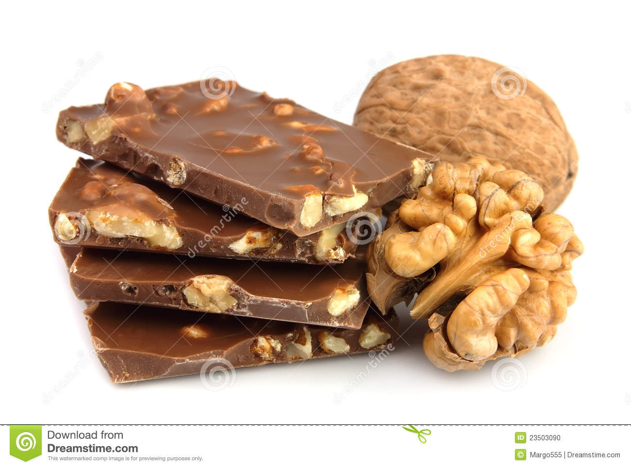 Chocolate With Nuts Stock Photo - Image: 23503090