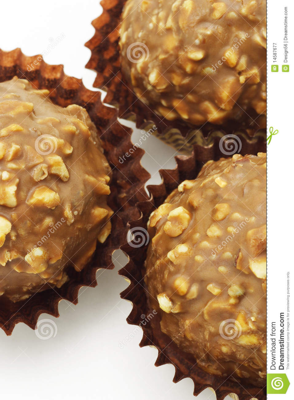 Chocolate And Nuts Balls Royalty Free Stock Photography - Image ...