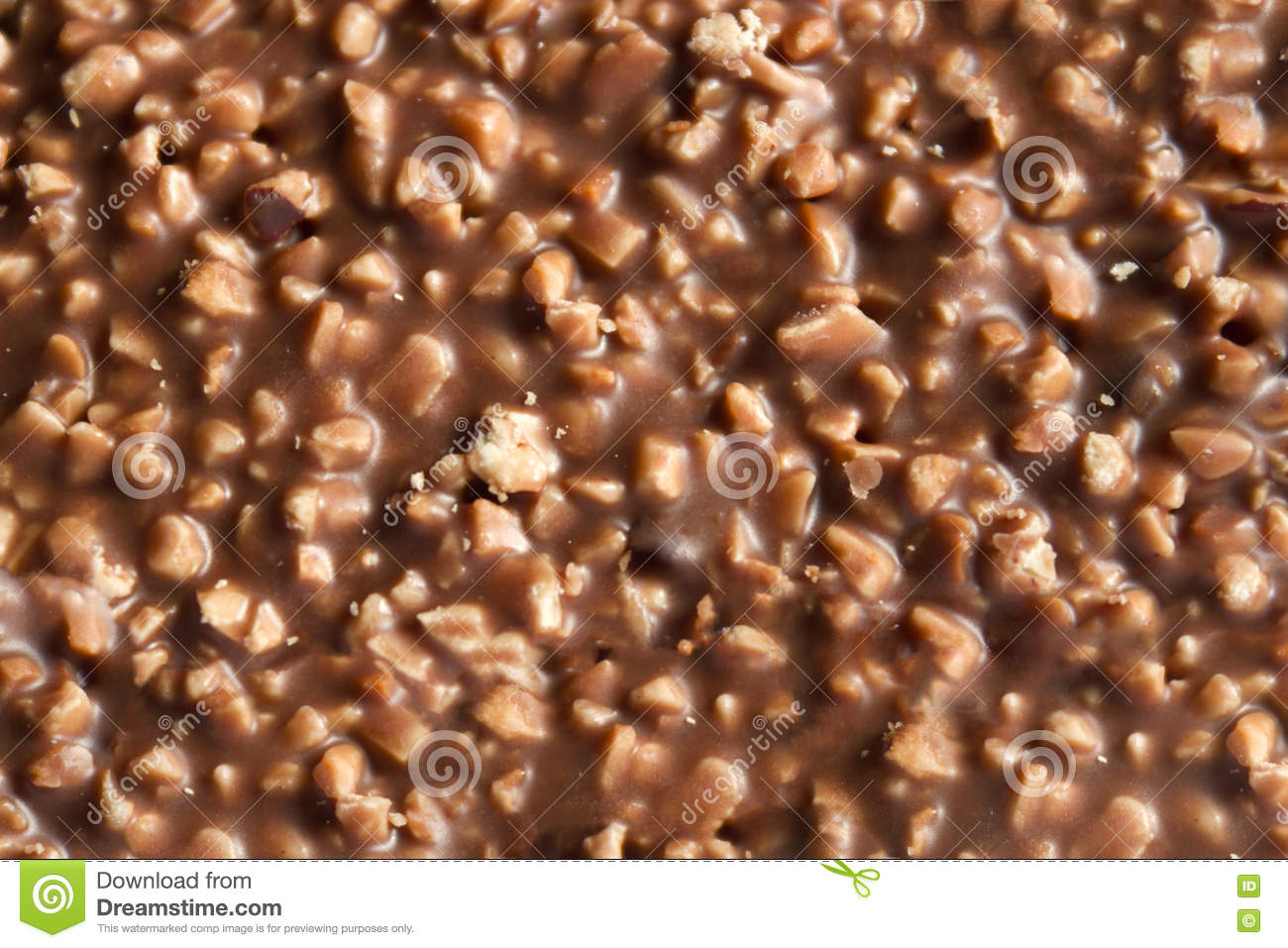 Chocolate With Nuts Texture Stock Photo - Image: 76300493
