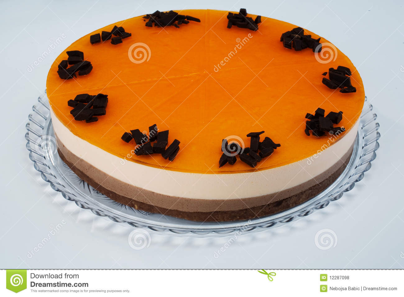 Chocolate Orange Cream Cake Royalty Free Stock Photos ...