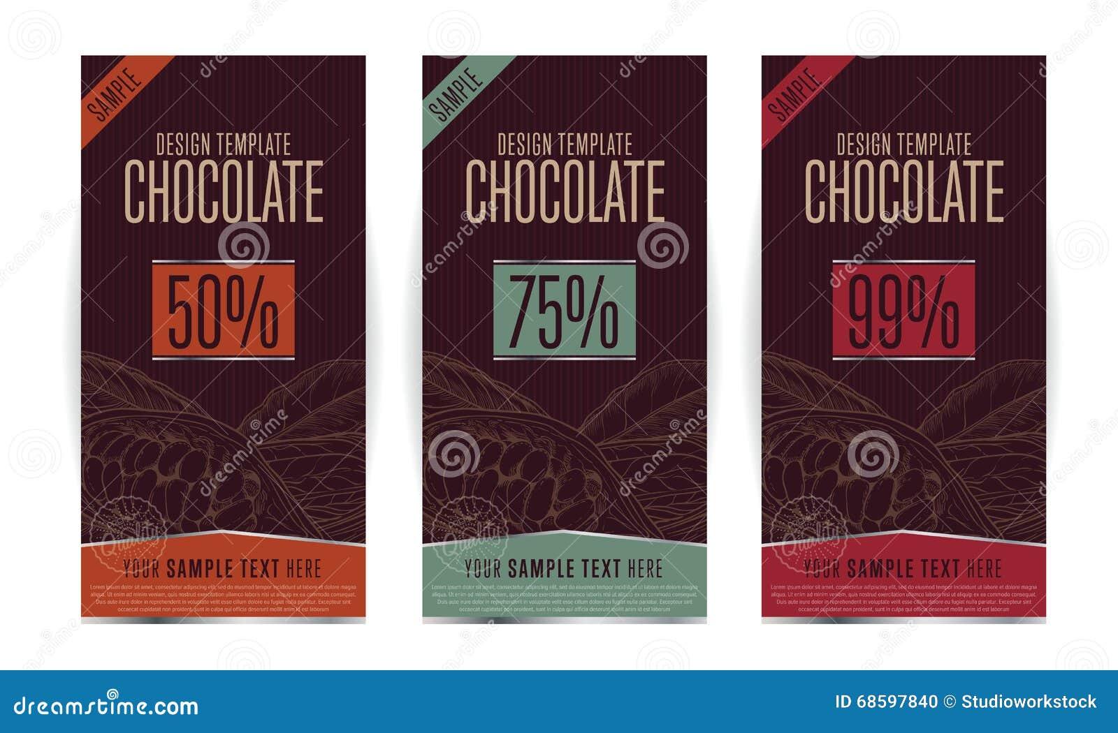 Chocolate Packaging Design Stock Vector Illustration Of Bitter