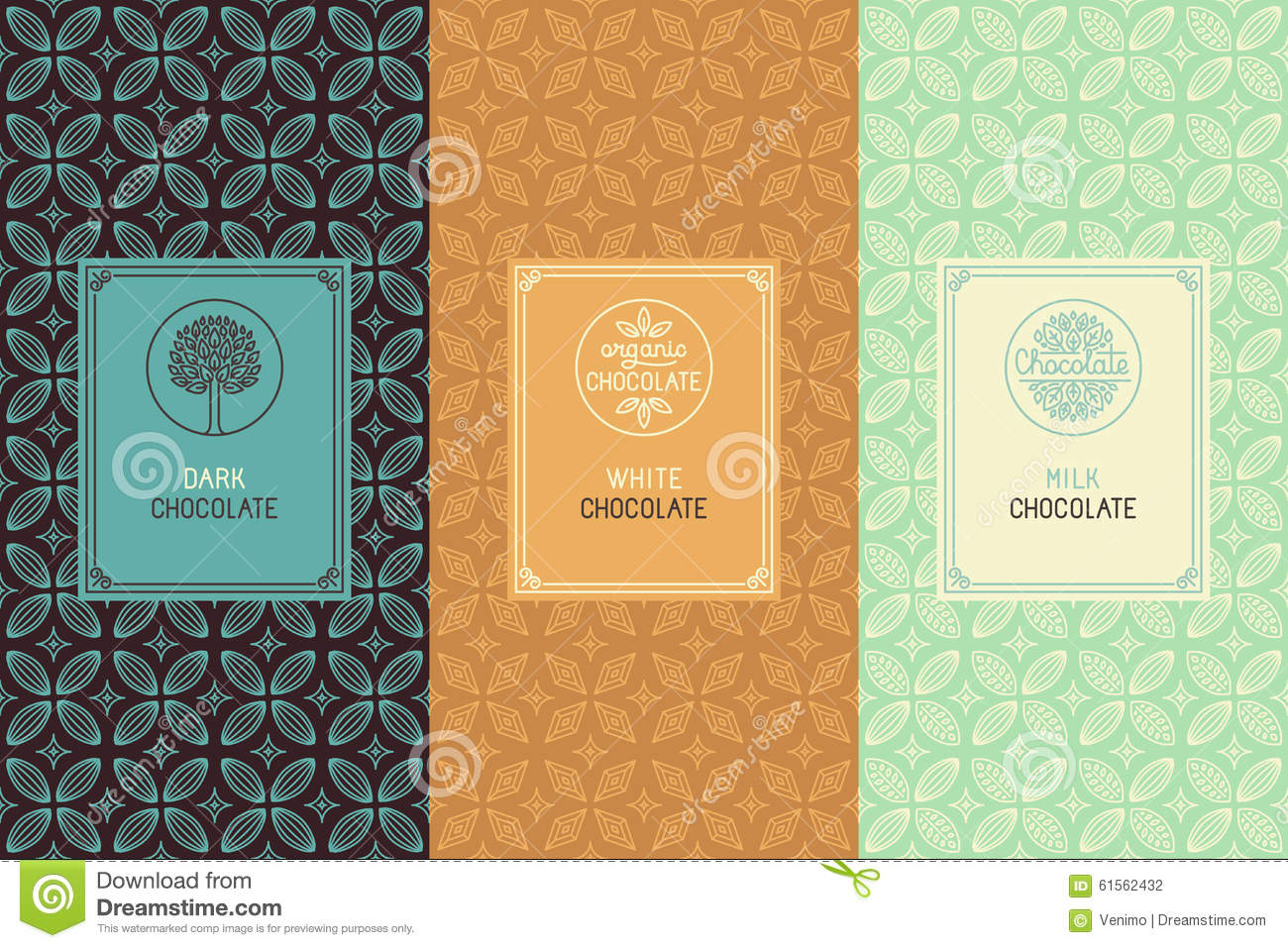 Chocolate Packaging Stock Vector - Image: 61562432